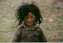 A boy in Kham. Click to see more Tibet photos ...